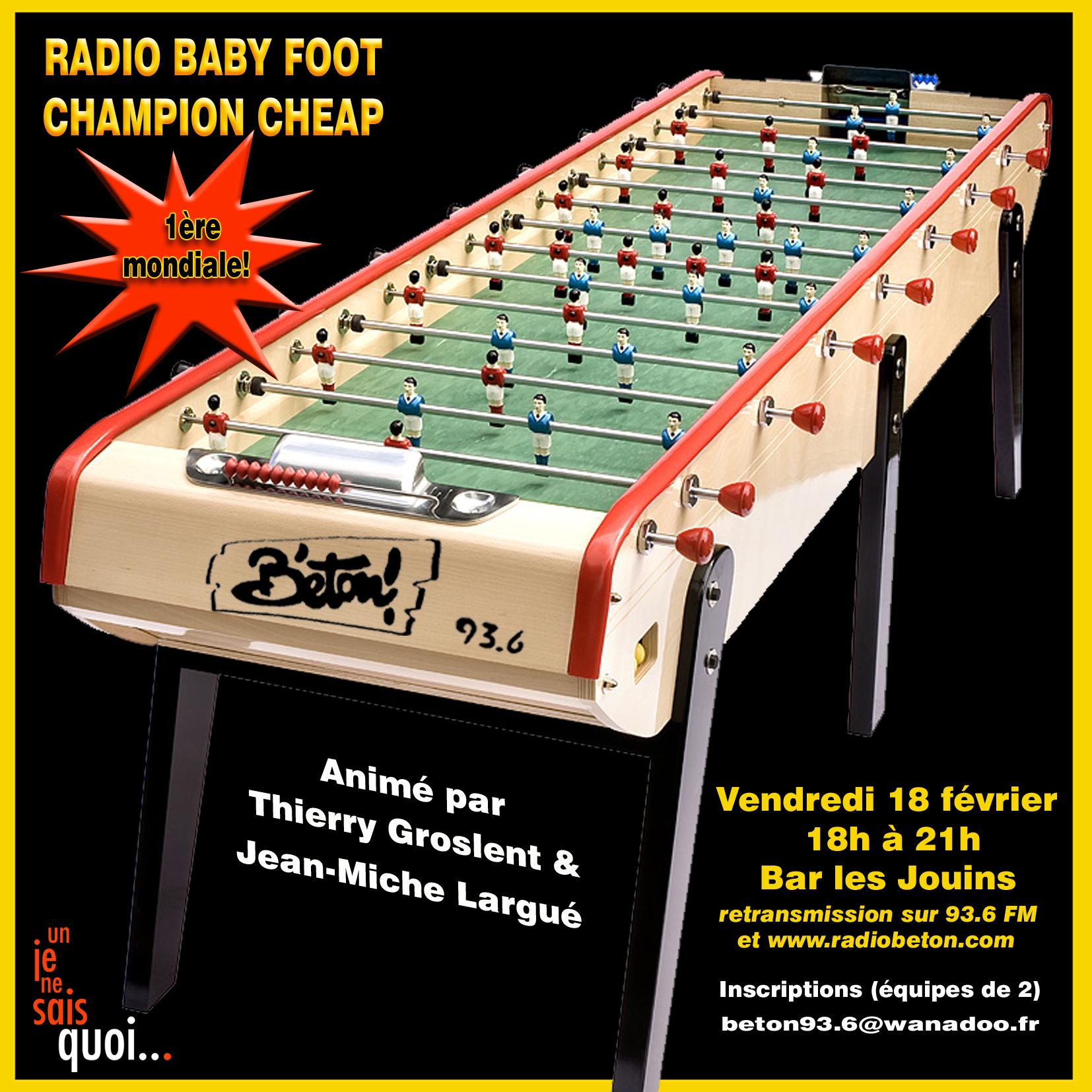 Radio Baby Foot Champion Cheap