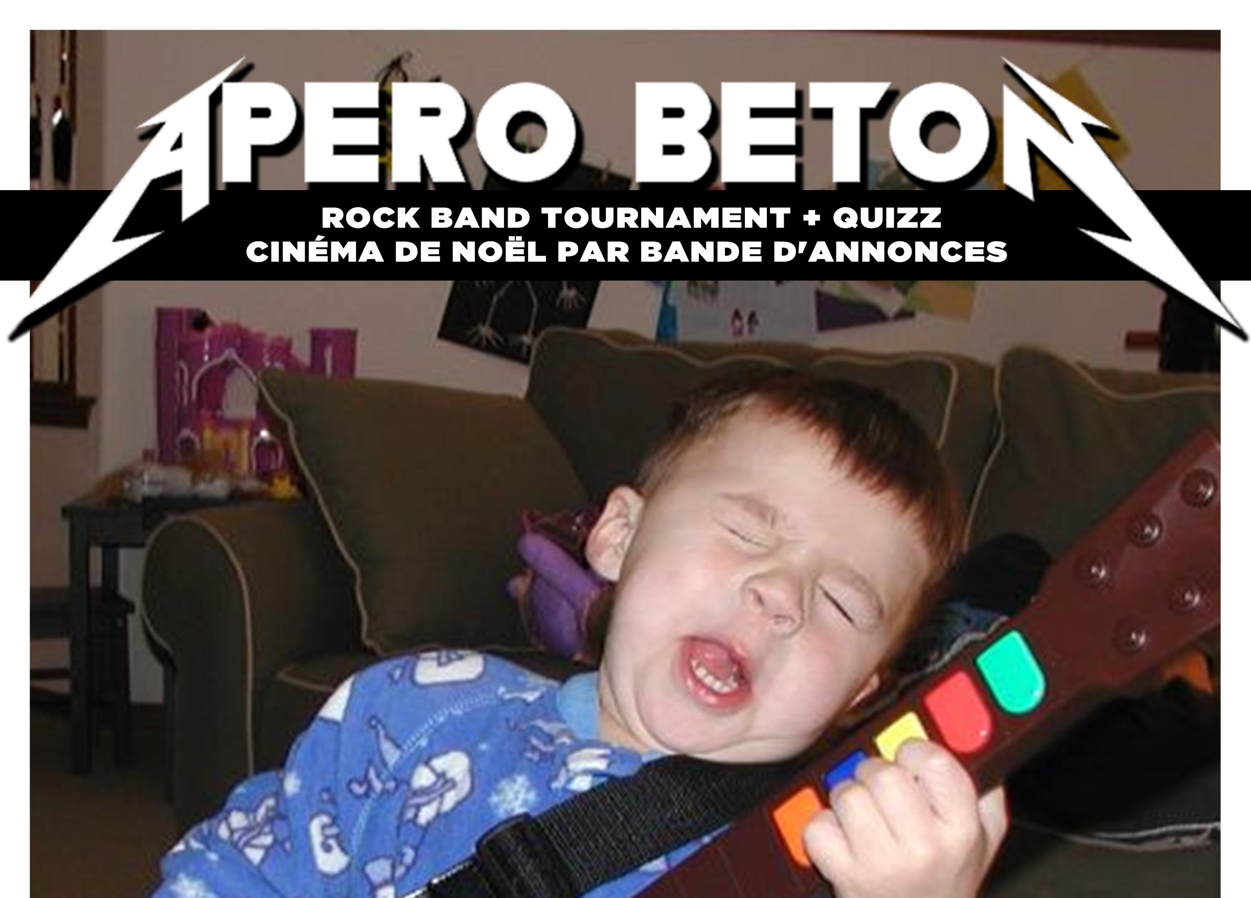 L'apéro Béton de Noël spécial Rock Band & Quizz Ciné !